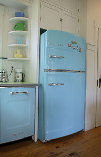 Retro kitchen appliances refrigerators and freezers