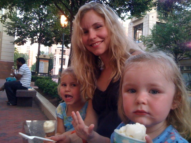 Ice cream on a hot summer evening...