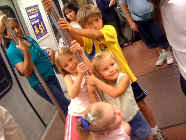 First metro ride with the cousins...