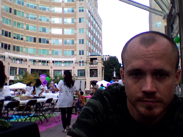 Running sound at the Town Center Today!  Our Band Playing at 2:45pm